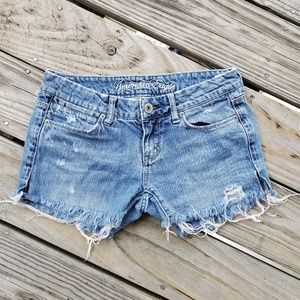American Eagle Distressed Jean Shorts Size 2 Short
